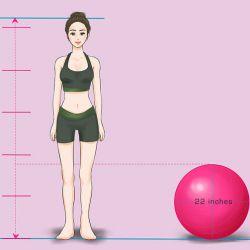 A megfelelő méretű gimnasztik labda választás.