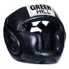Green Hill Super bőr fekete fejvédő