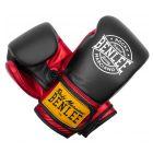Benlee Metalshire profi bőr boxkesztyű, fekete-piros